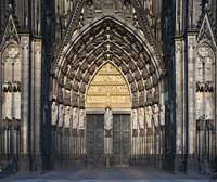 Koeln Dom, Westtor bzw. Hauptportal, Cologne dome with west portal or main portal